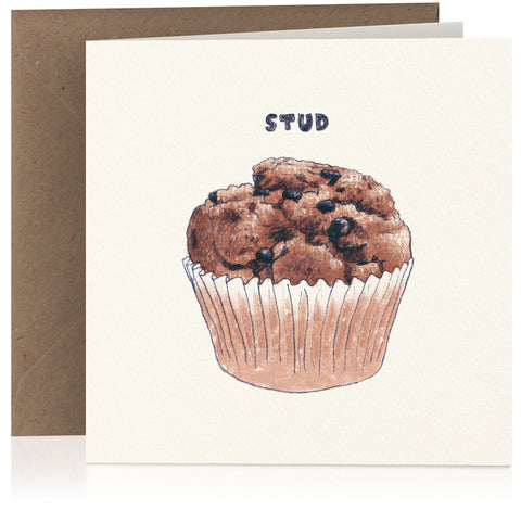 Stud muffin card suitable for birthday, anniversary and Valentines