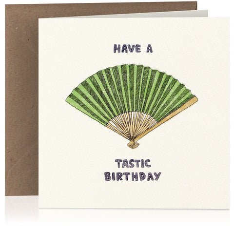 Fantastic birthday card with visual pun illustration