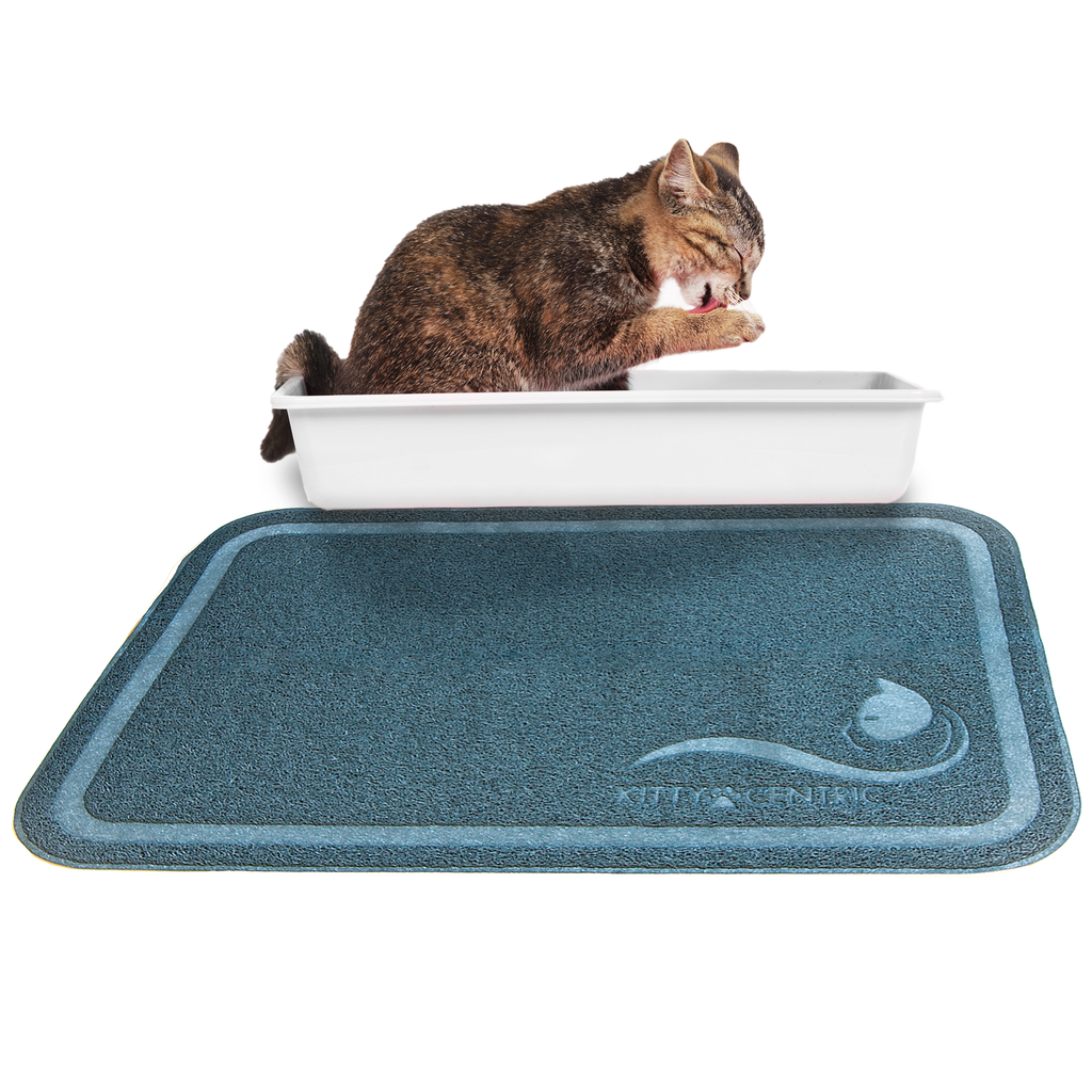 Kittycentric Litter Mat (Cornflower Blue)