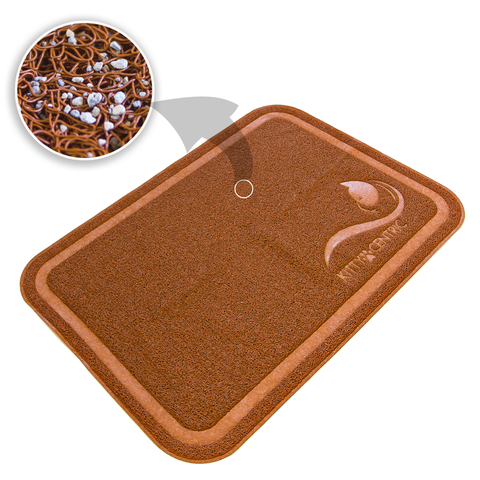 Kittycentric Litter Mat (Cinnamon Brown)