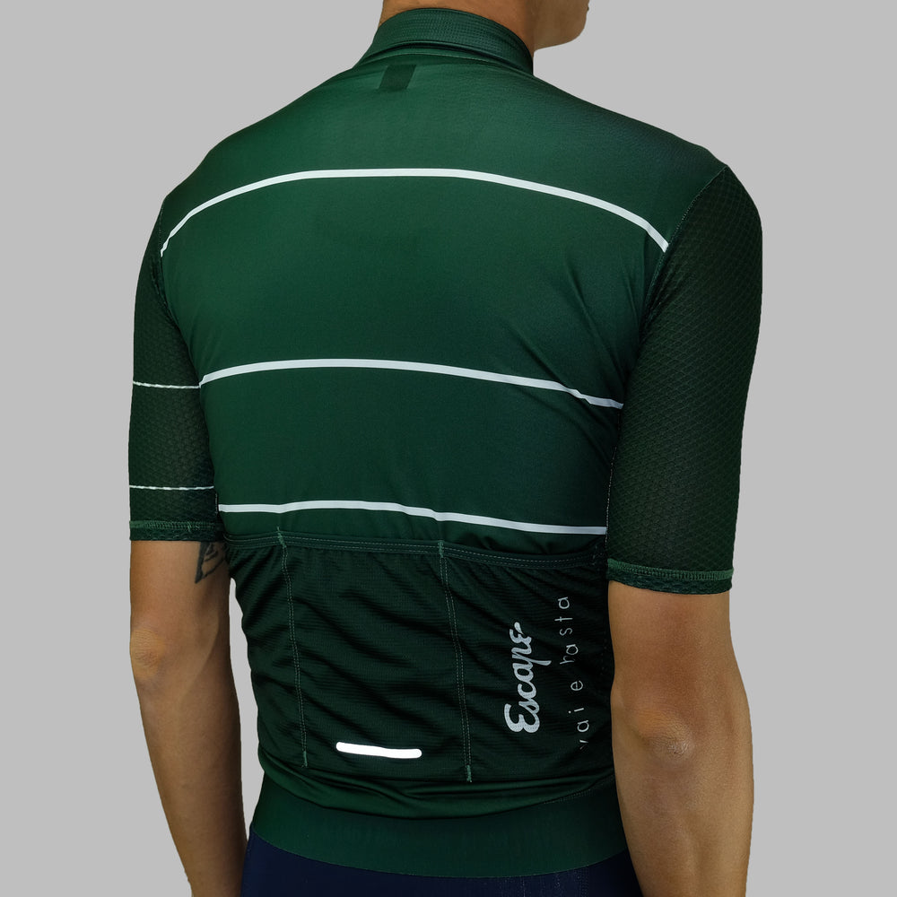 Load image into Gallery viewer, Stripe ultra Soloist Jersey - Dark Green