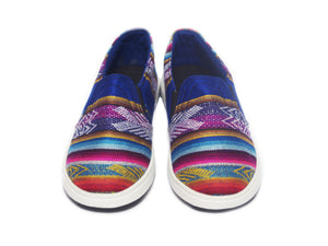 WOVEN ALPARGATA SLIP ON SHOES- MODERN BLUE