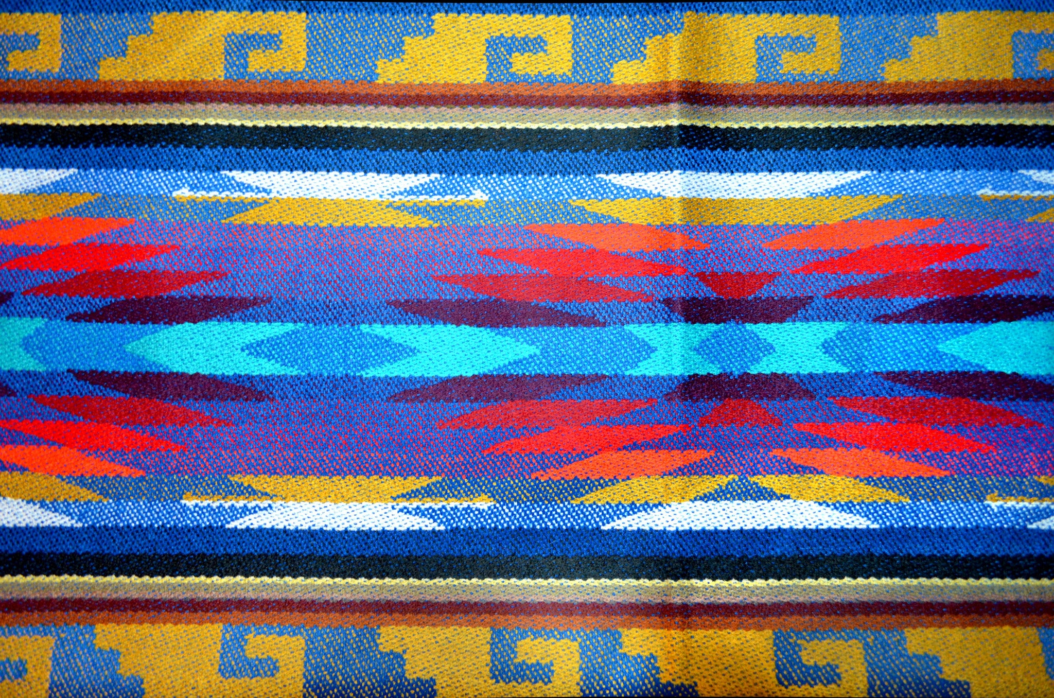 OTAVALO SHAWL - BLUE MOON