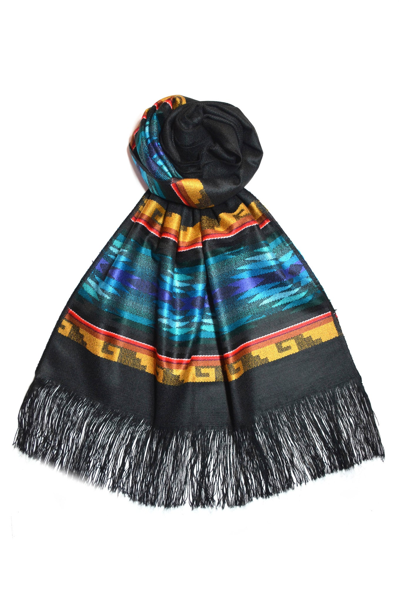OTAVALO SHAWL -  COLD NIGHT