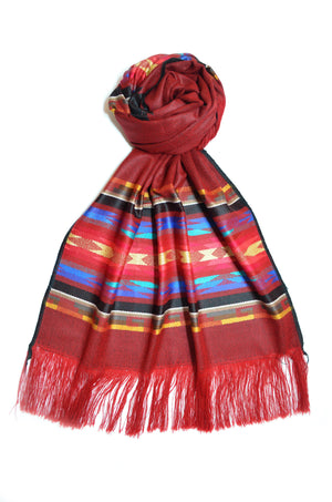 OTAVALO SHAWL - RED VELVET