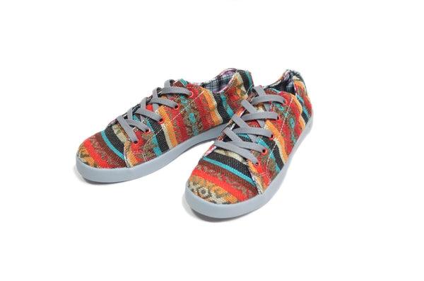 Woven Colorful Low Top Sneakers