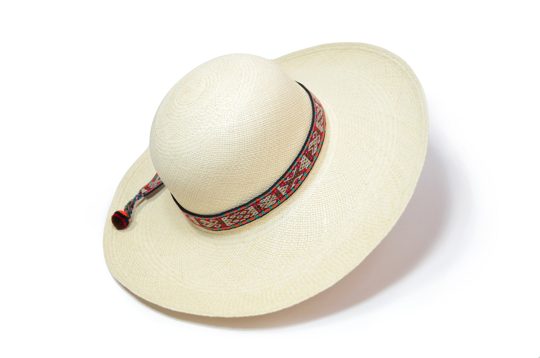 TOQUILLA STRAW BEACH HAT - WIDE BRIM PANAMA HAT (NATURAL COLOR)
