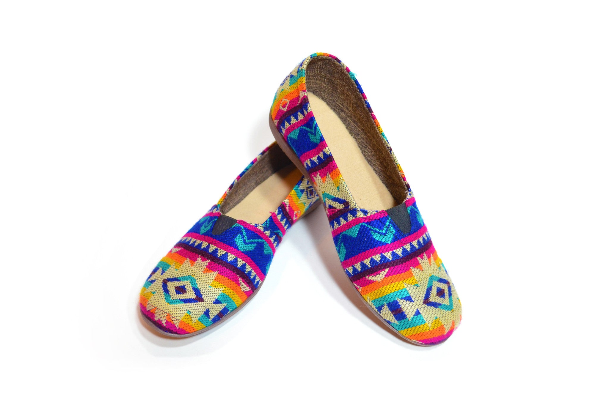 CHIBU SLIP ON SHOES - FUCHSIA & TURQUOISE