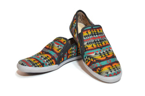 CHIBU SLIP ON MOCCASINS - MULTICOLOR