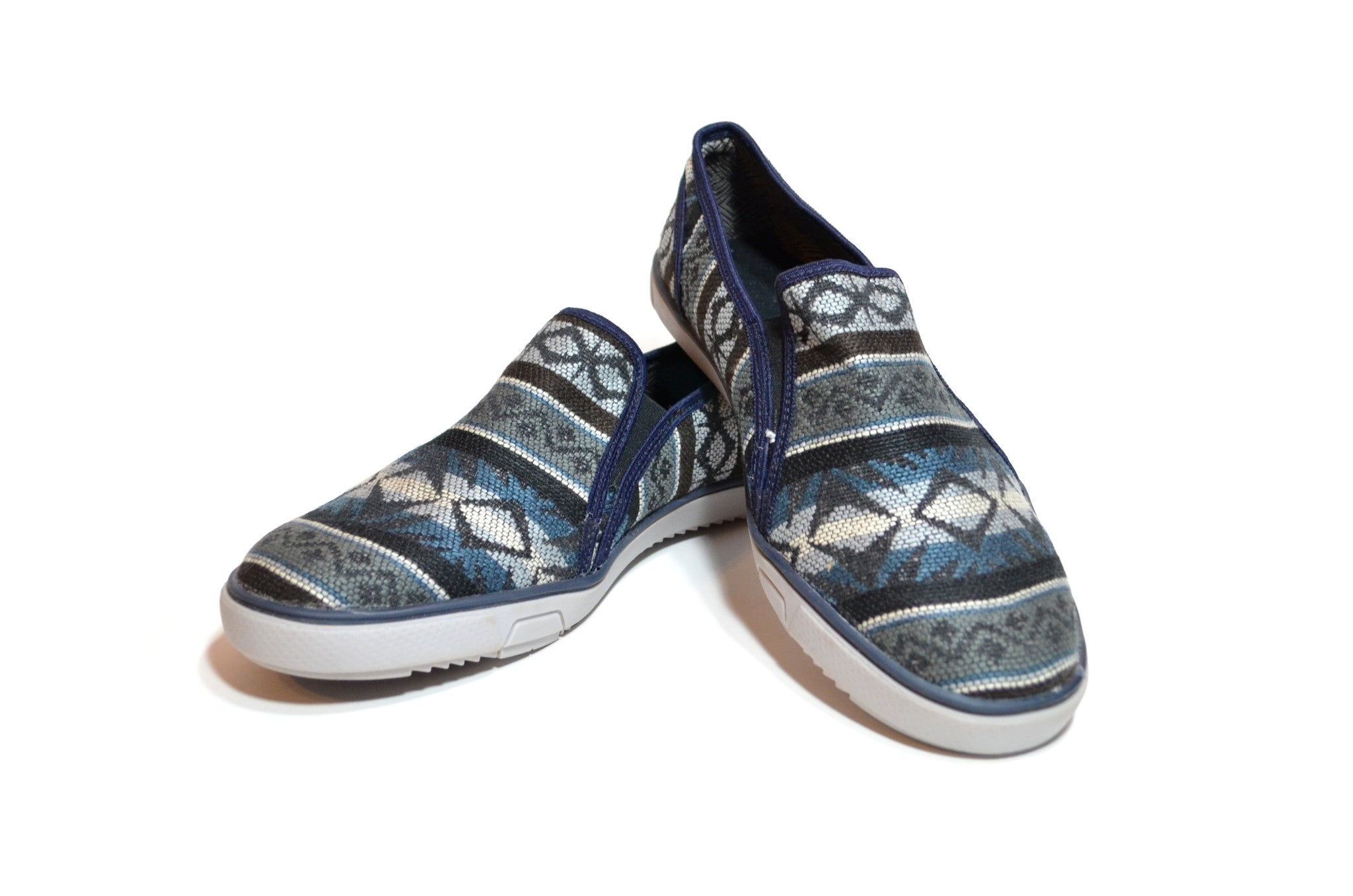 CHIBU SLIP ON MOCCASINS - BLUE NIGHT