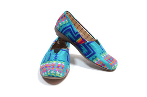 SISAY SLIP ON SHOES - SHINY TURQUOISE