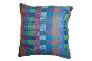 SAN JOSE HANDLOOM WOVEN CUSHION COVER  - SQUARES & DIAMONDS (DOUBLE SIDED)