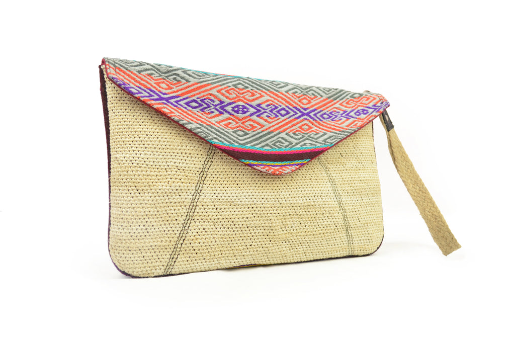 HANDWOVEN CABUYA PURSE - PINK & PURPLE TONES