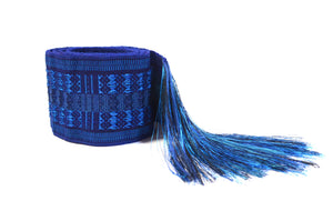 WOVEN BELT - ELECTRIC BLUE