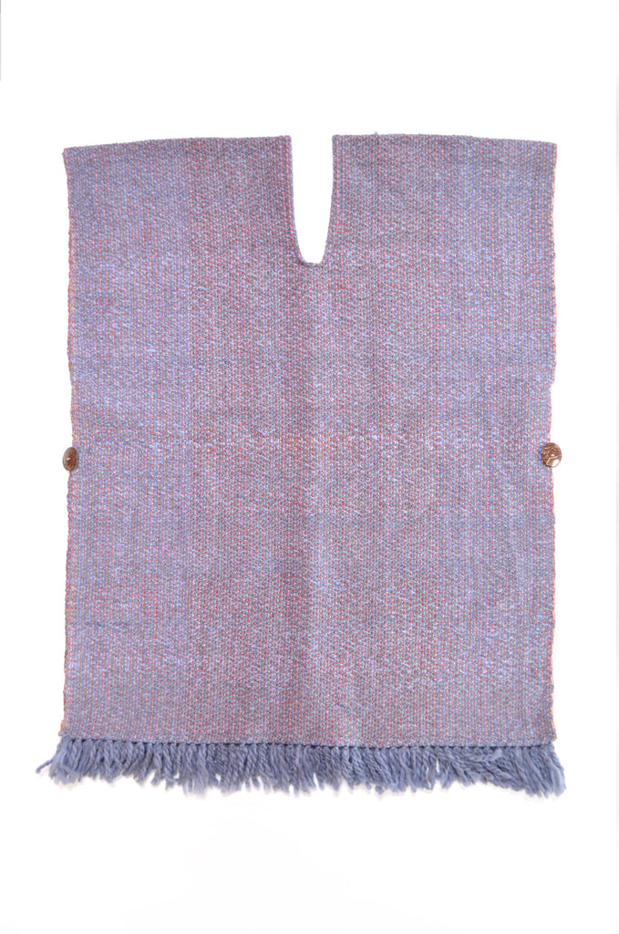 Handwoven Poncho Mixed Alpaca Wool