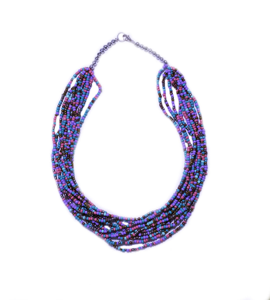 LA OTAVALEÑA NECKLACE - MULTICOLOR PINK