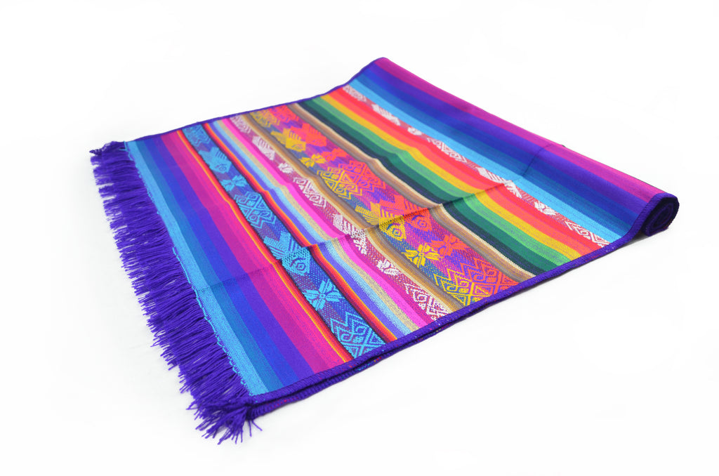 OTAVALO TABLE RUNNER  - PURPLE RAINBOW