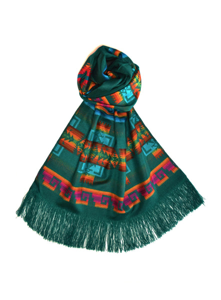 OTAVALO SHAWL - GREEN EMERALD