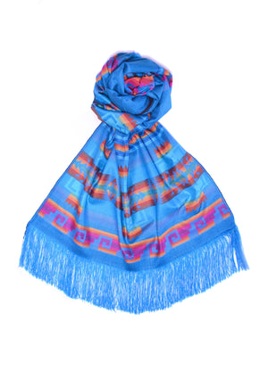 OTAVALO SHAWL - SUNSET BLUE