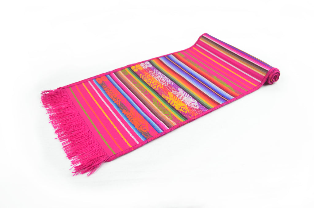 OTAVALO TABLE RUNNER SMALL  - FUCHSIA CHUQUIRAHUA