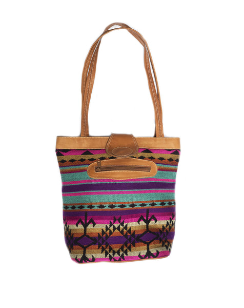 Colorful textile handbag