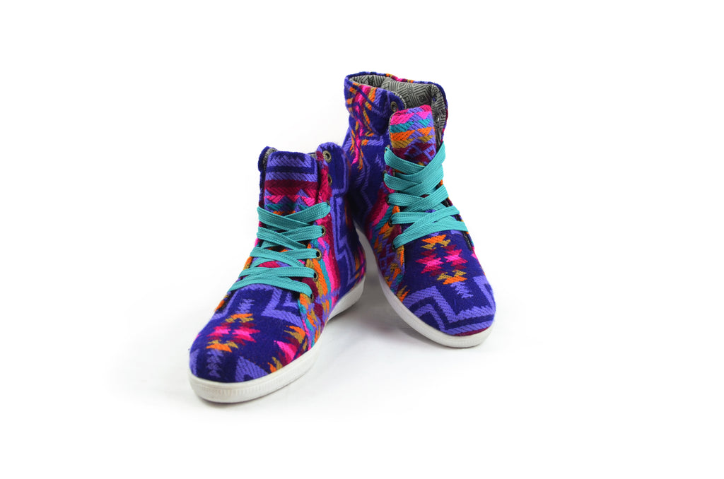 SISAY HIGH TOP CHAKI - PURPLE PATTERNS