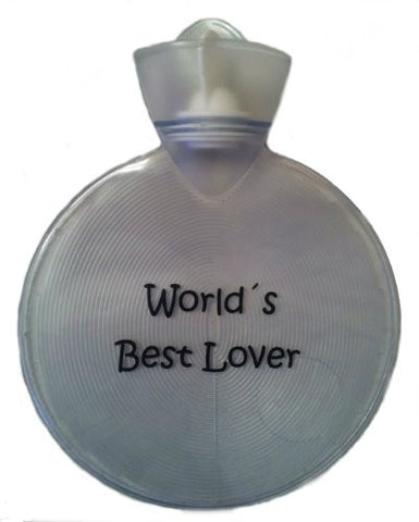 Warm Tradition World's Best Lover Transparent Hot Water Bottle - Made in Germany