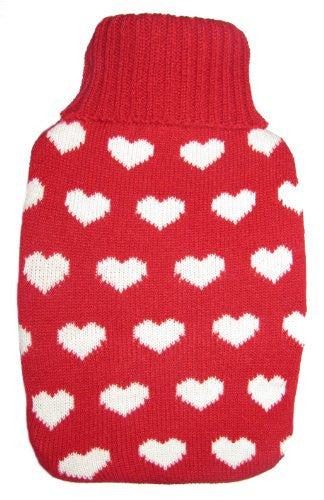 Warm Tradition Lots of Love Knit Hot Water Bottle Cover- COVER ONLY