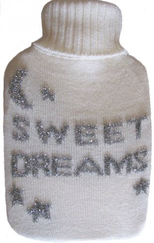 Warm Tradition Sweet Dreams Knit Covered Hot Water Bottle - Bottle made in Germany