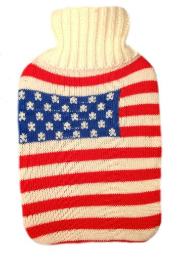 Warm Tradition American Flag Knit Hot Water Bottle Cover- COVER ONLY