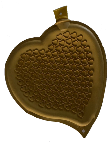Sänger Heart-shaped Hot Water Bottle-YELLOW-made in Germany