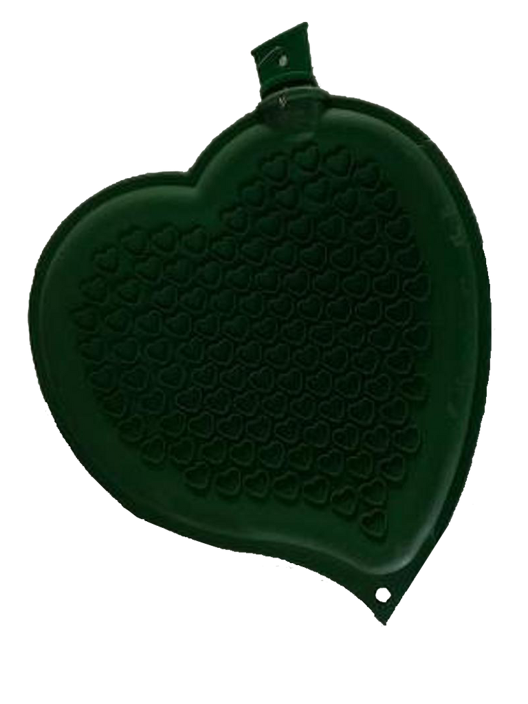 Sänger Heart-shaped Hot Water Bottle-GREEN-made in Germany