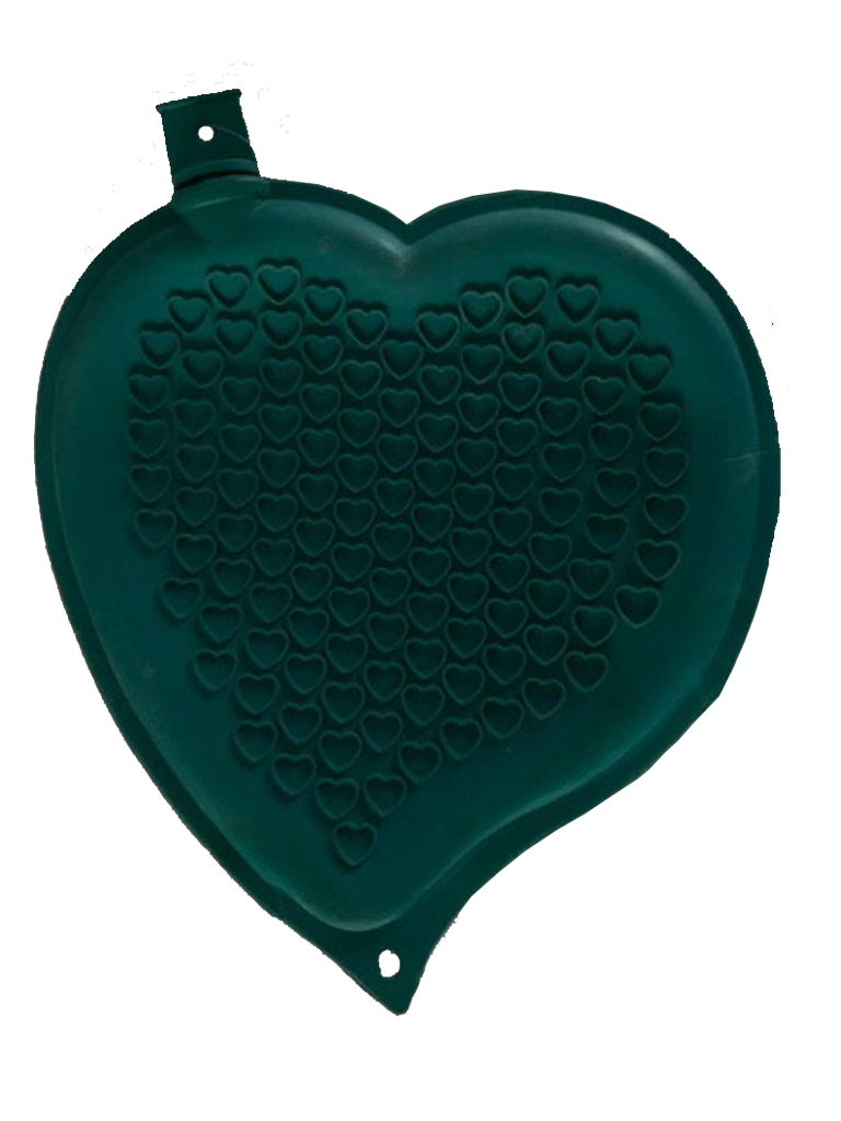 Sänger Heart-shaped Hot Water Bottle-TURQUOISE-made in Germany
