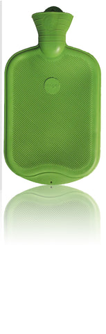 Sänger Rubber Hot Water Bottle - Made in Germany - 2 Litres (Green)