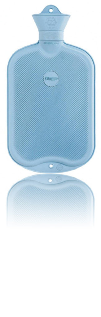 2.0 liter Sänger® Rubber Hot Water Bottles (Light Blue)