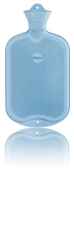 Sänger Rubber Hot Water Bottle - Made in Germany - 2 Litres (light blue)