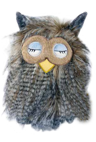 SANGER Owl Yellow beak Bob Hot Water Bottle - Made in Germany
