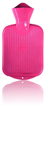 Sänger Rubber Hot Water Bottle - Made in Germany - 2 Litres (Pink)