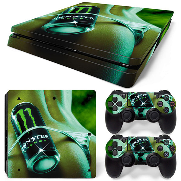 monster - PS4 Slim - www.skinshoppen.dk PS4 slim