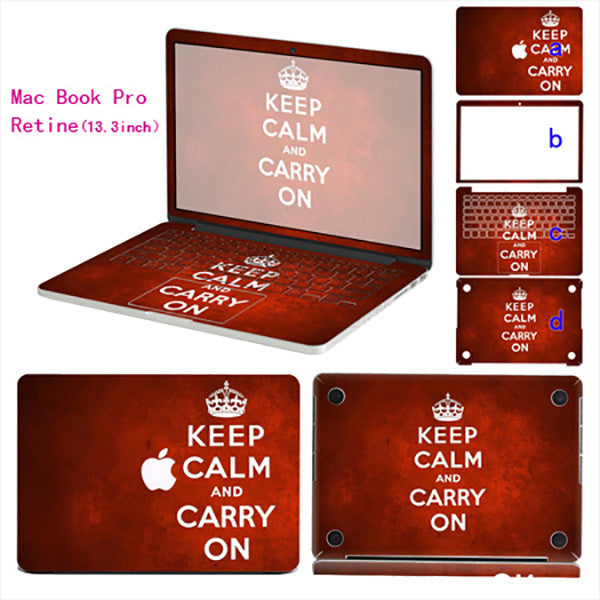 Keep Calm - Macbook Pro Retina 13.3 inch - www.skinshoppen.dk