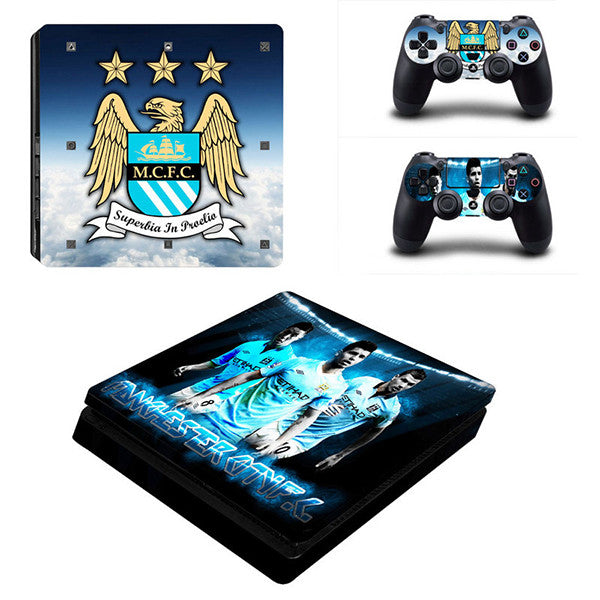 Man. city - PS4 Slim - www.skinshoppen.dk PS4 slim