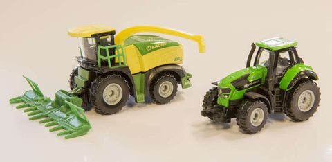 BiG X 580 Forage Harvester and Deutz Fahr 9340 Tractor Model