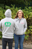 KRONE Green Embroidered Hoodie