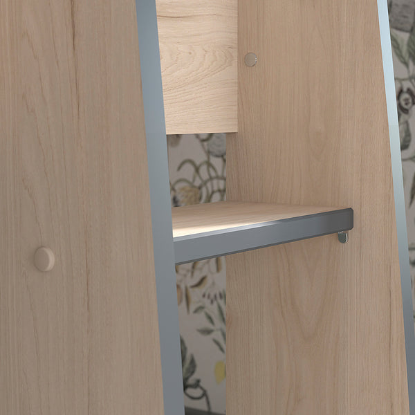 Parisot Stim Grey & Oak Bunk Bed with Wardrobe