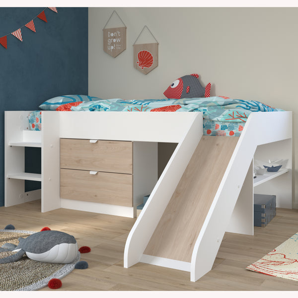 Parisot Tobo Midsleeper Cabin Bed with Slide & Storage