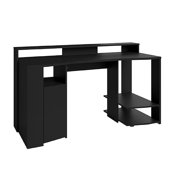 Parisot Duo Gaming Desk Workstation with LED Strip Lights