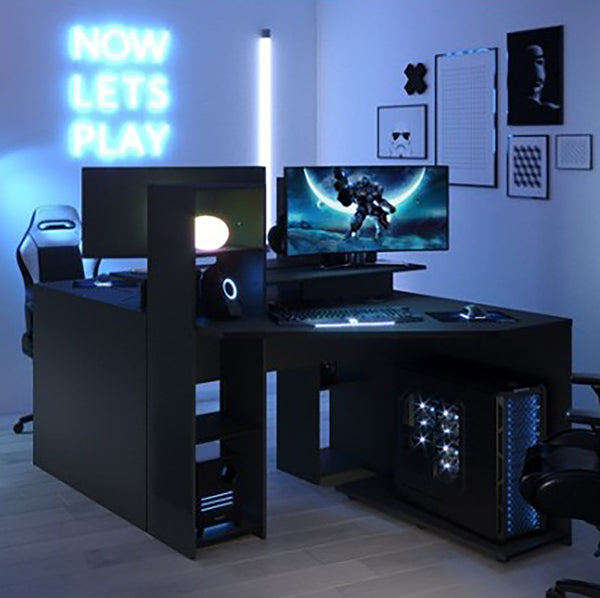 Parisot Corner Gaming Desk Workstation