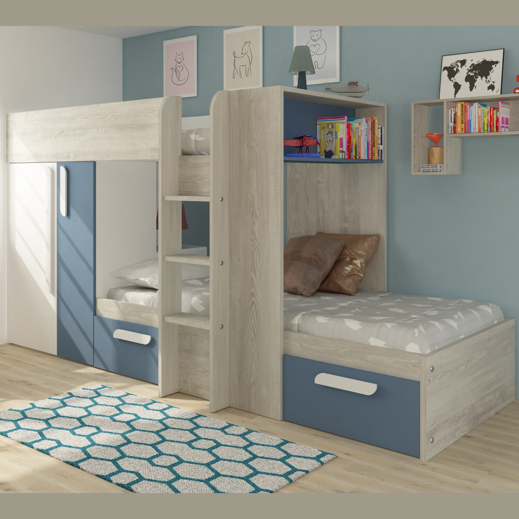 Picture of: Trasman Barca Bunk Bed With Wardrobe Storage Family Window