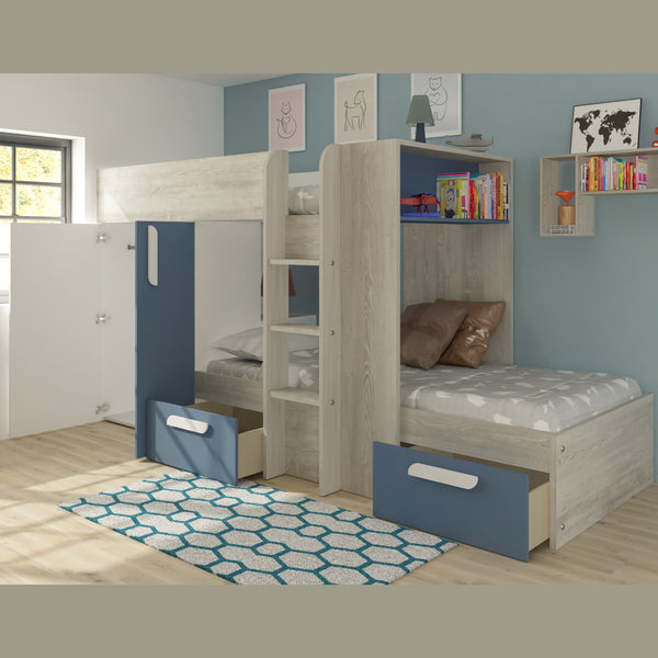 Trasman Barca Bunk Bed with Wardrobe & Storage