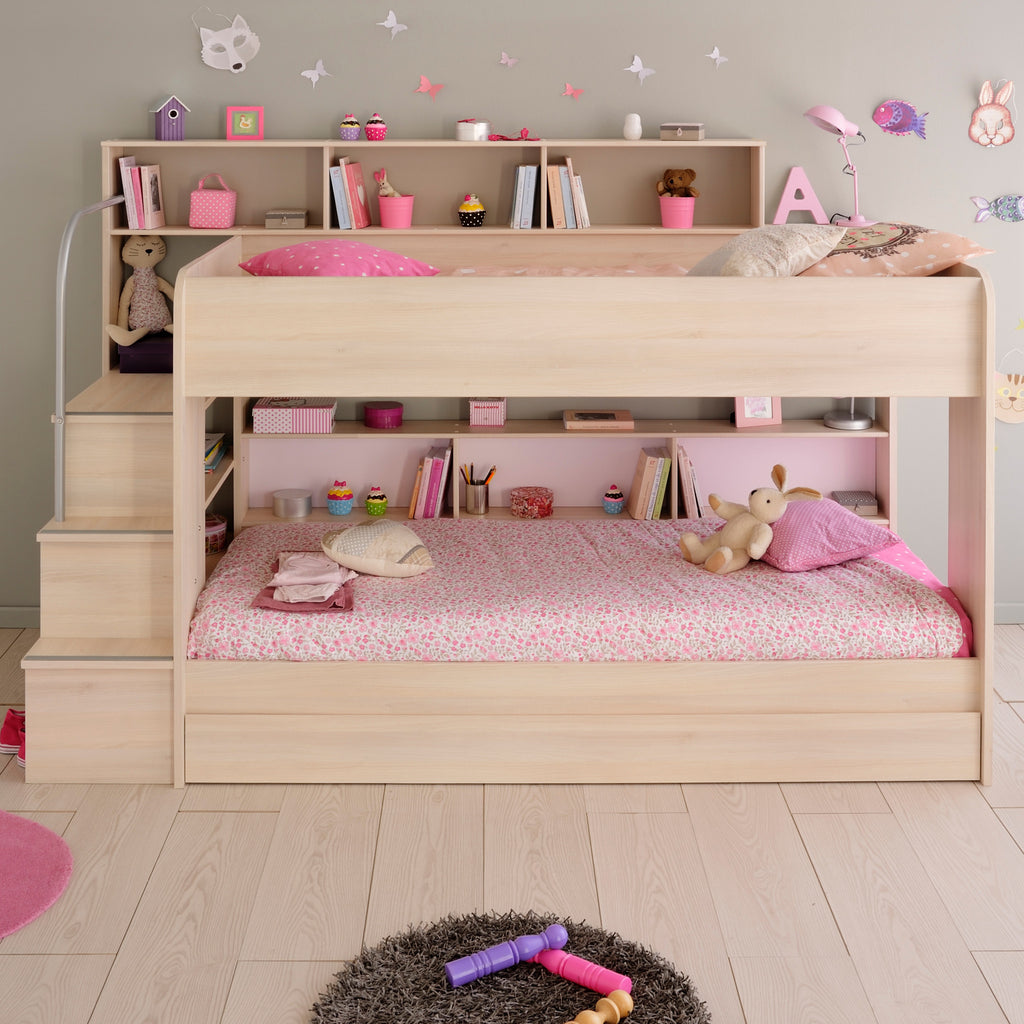 Parisot Acacia Bibop Bunk Bed with Steps & Optional Drawer/Bed